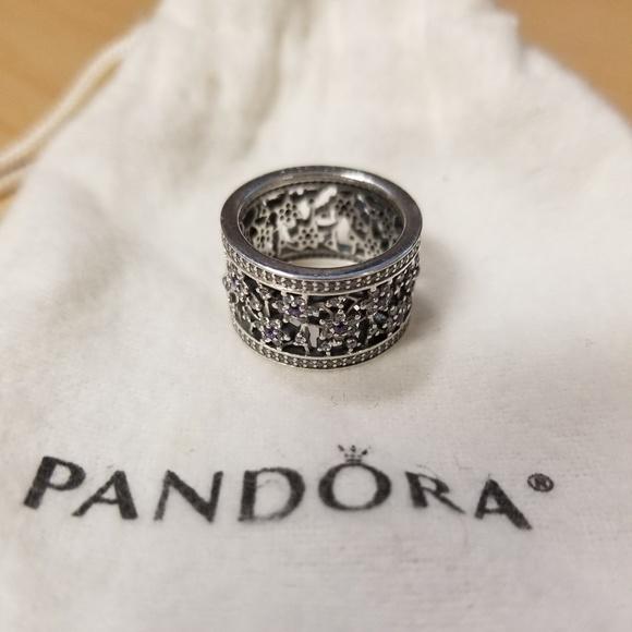 5e7721c49 Pandora Jewelry | Forget Me Not Ring Purple Clear Cz | Poshmark